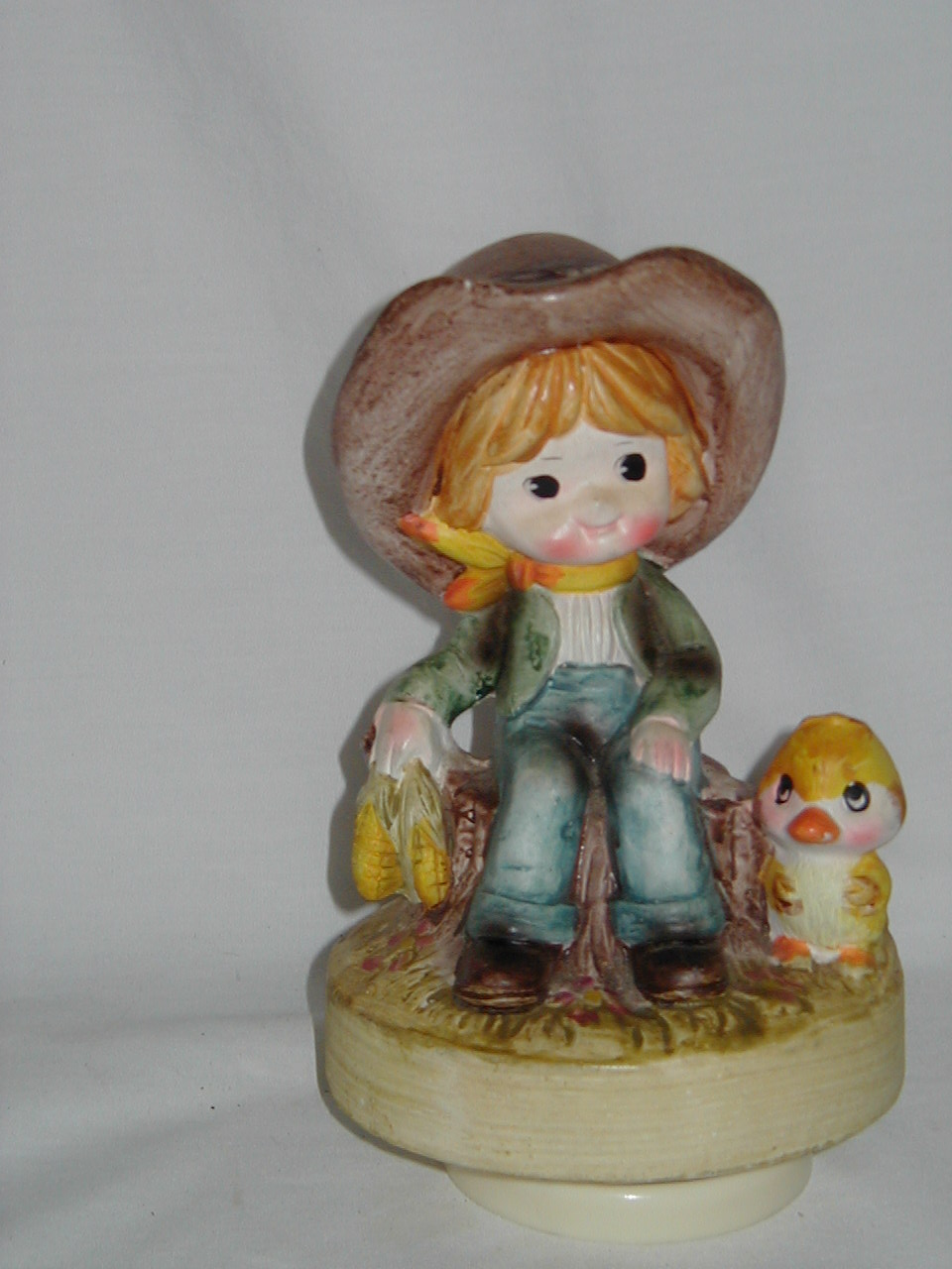 Kid Large Hat With Corn And Yellow Bird