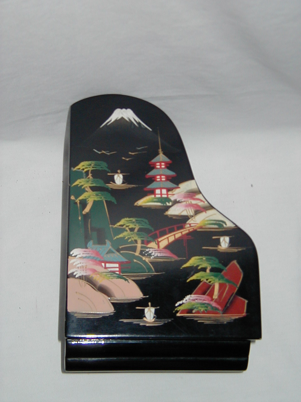 Japanese Design With Mt Fuji Pagoda Bridge In Piano Form